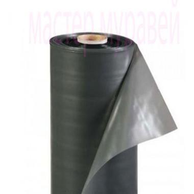 Пленка ПЭТ черная 100мкм, ширина-1,5м (рукав)