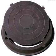 Люк полимерно-песчанный круглый для колодцев 6 т