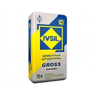 """Штукатурка цементная """"IVSIL GROSS"""", 25кг"""