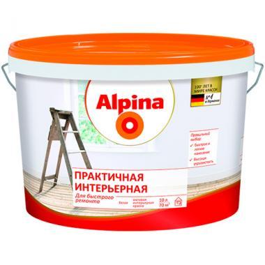 Краска ВД Альпина Renova (практичная интерьерная) 10 л
