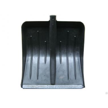 Лопата снеговая Метелица 430х490 б/ч черная